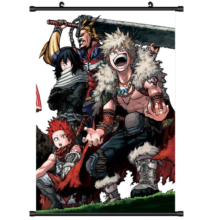 Boku no Hero Academia HD Canvas Print Wall Poster Scroll Room Decor