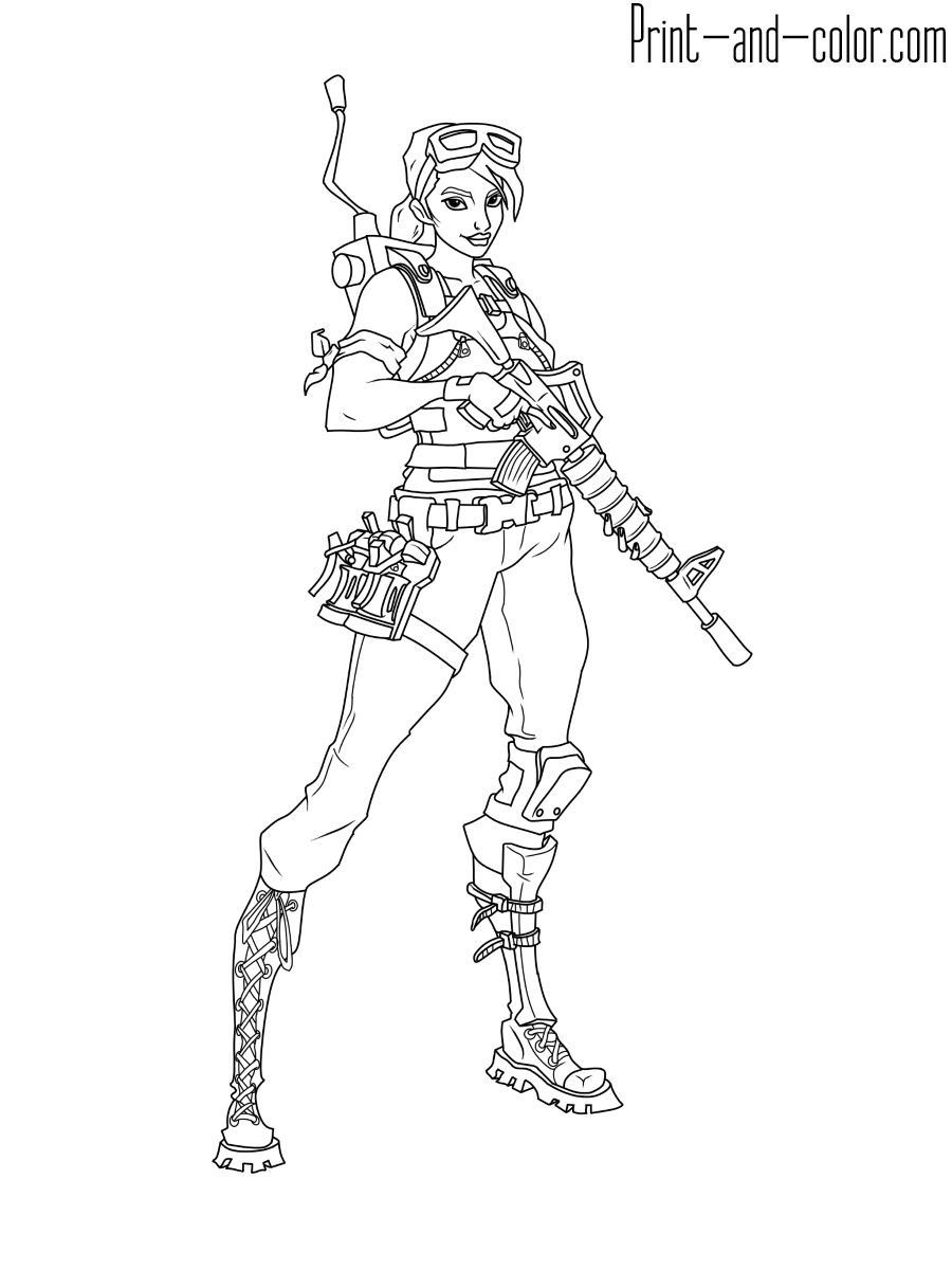 Fortnite Coloring Pages Print And Color With Regard To 25
