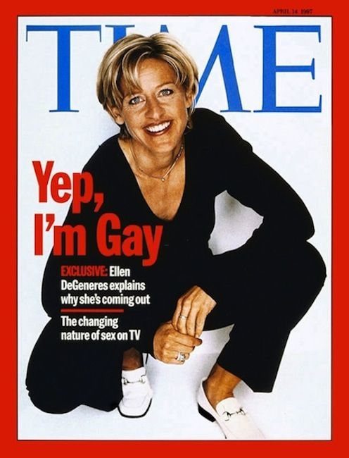 """Time, April 14 1997 - Ellen's Coming-Out Issue - My Multicultural World - Past, Present & Future - FuTurXTV & Funk Gumbo Radio - Money Train, FuTurXTV & Funk Gumbo Radio: http://www.live365.com/stations/sirhobson and """"Like"""" us at: https://www.facebook.com/FUNKGUMBORADIO"""