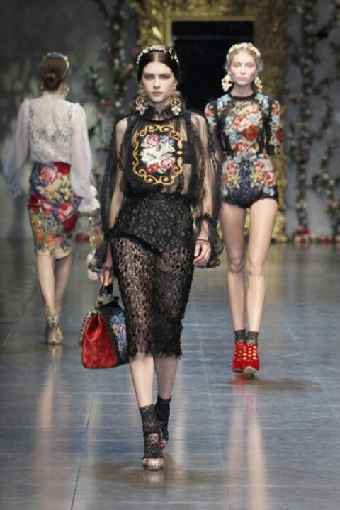 Dolce & Gabbana-sheer and lace