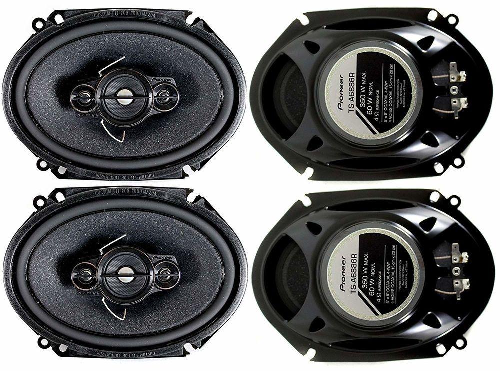 DUAL 5x7 6x8 4-WAY HIGH PERFORMANCE CAR SPEAKERS