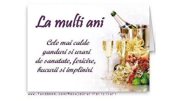 Urari De La Multi Ani >> Felicitari de la multi ani - Cele mai calde ganduri si urari de sanatate, fericire, bucurii si ...