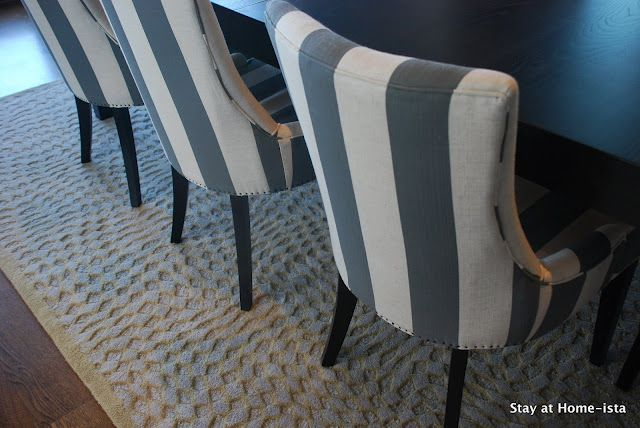 rug is from O.co (formerly Overstock | Striped chair, Grey ...