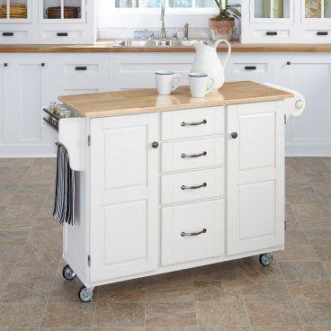 Modern Portable Kitchen Island On Wheels | repurposed | Pinterest