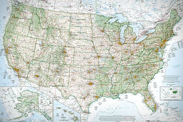 Who doesnt need a topographical map of the United States on their