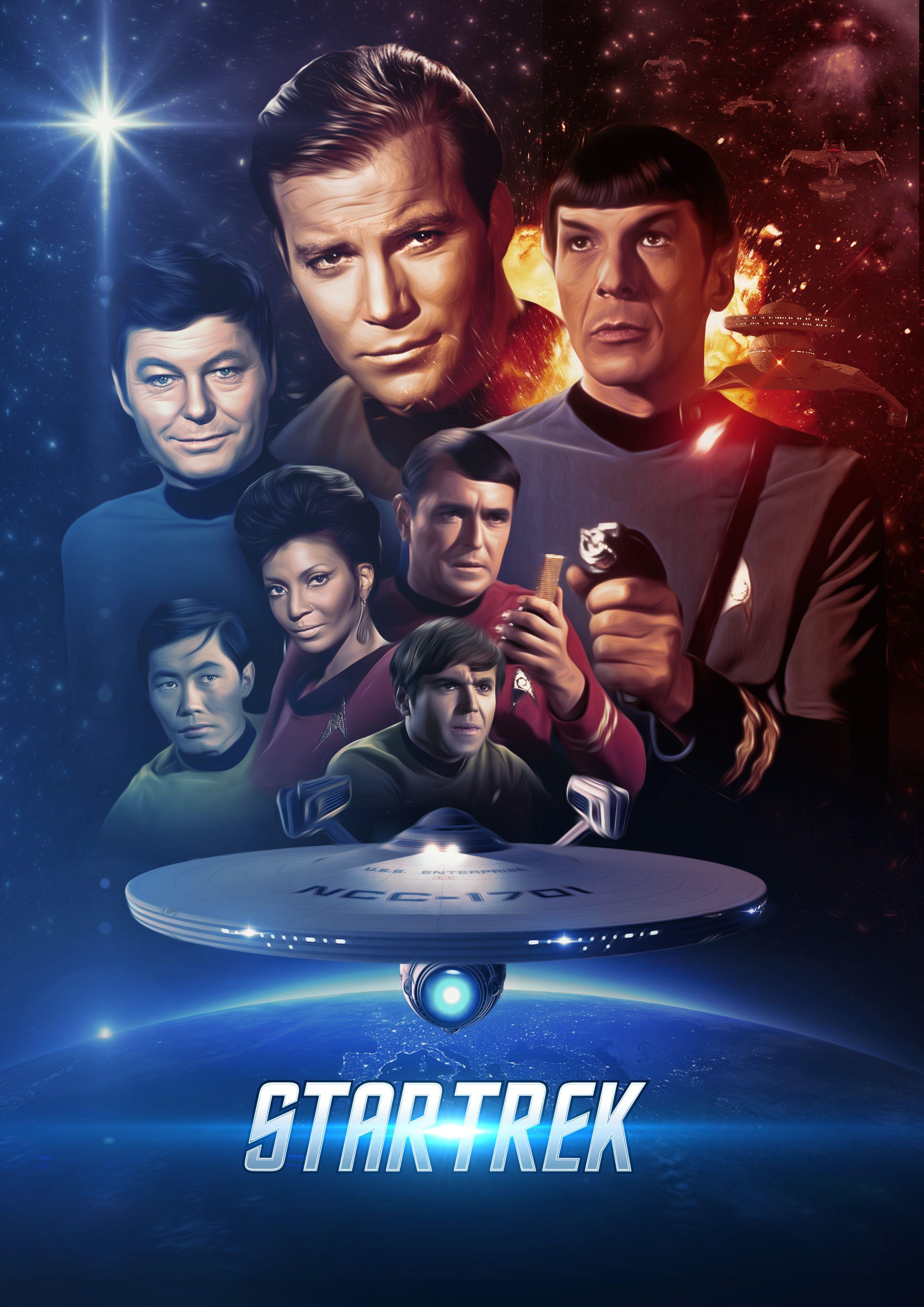 Star Trek James T Kirk Enterprise Picture Movie Poster Film Cinema Picture