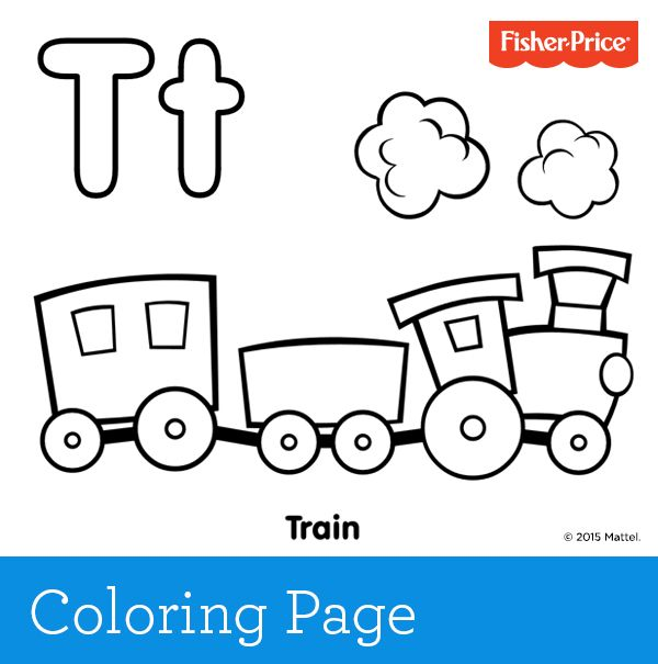 Tu0027 is for train! Toot-toot and choo-choo Train play is so much fun - copy coloring pages printable trains