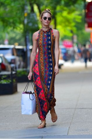 Candice Swanepoel and Summer Boho Dressing - Vogue