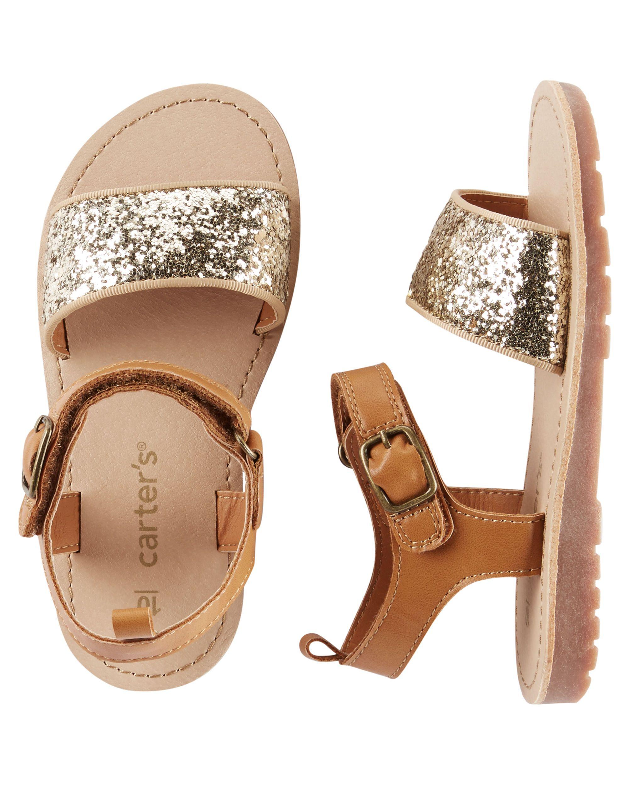 d9e0bc515a4 Baby Girl Carter s Glitter Strap Sandals