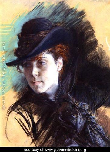 03f22e585c746 Giovanni Boldini - Girl In A Black Hat - www.giovanniboldini.org ...