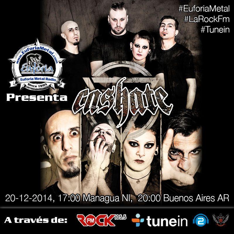 Hoy entrevista en vivo a Cashate de Argentina en Rock FM 105.5 y online en www.EuforiaMetal.com
