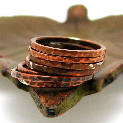 love these hammered copper bracelets