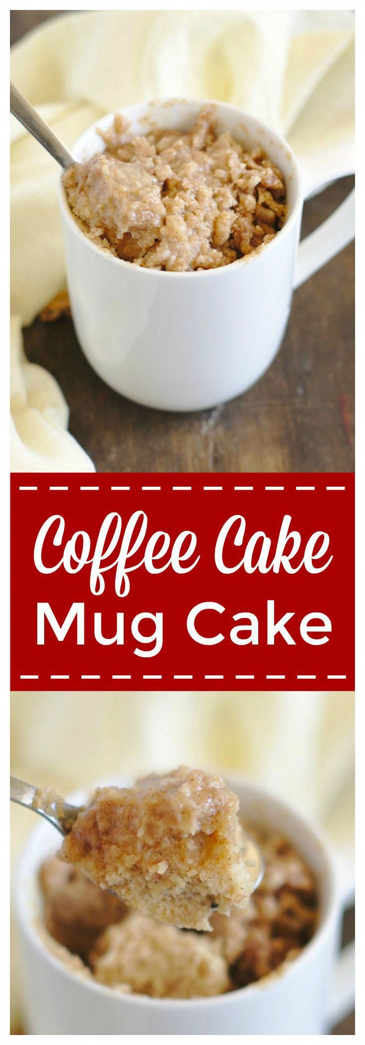 Easy Coffee Cake Mug Cake Recipe Mildly Meandering
