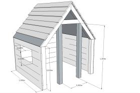Maak een speelhuisje van douglas hout eigen huis tuin for Bouwtekening veranda eigen huis en tuin