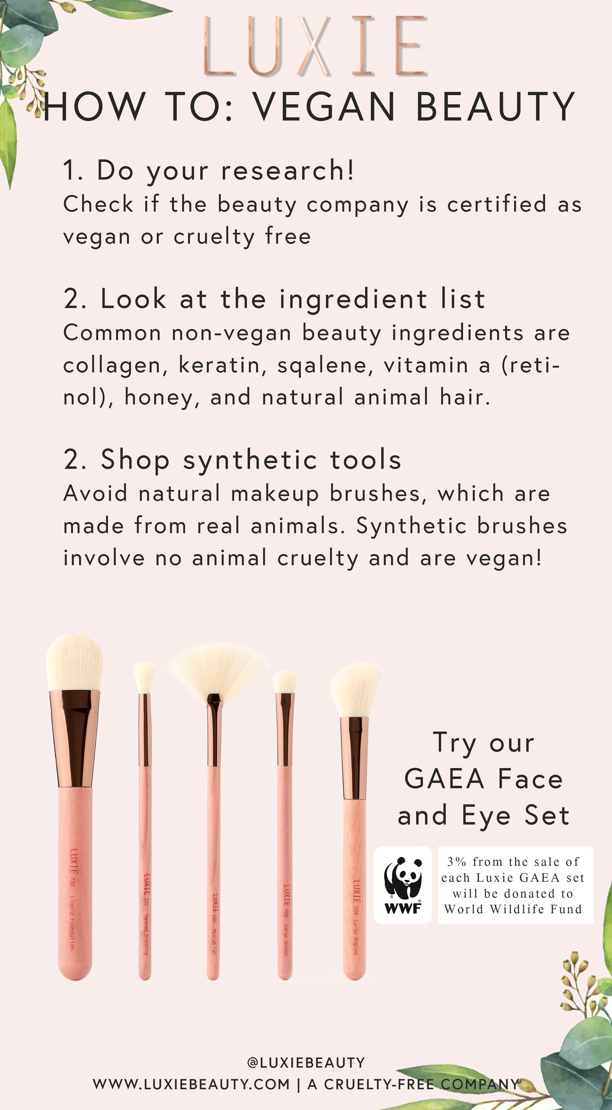 LUXIE Face And Eye Brush SetGaea in 2020 Eye brushes