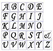 Alphabet Stencil Airbrush Stencils Letter Templates Mm
