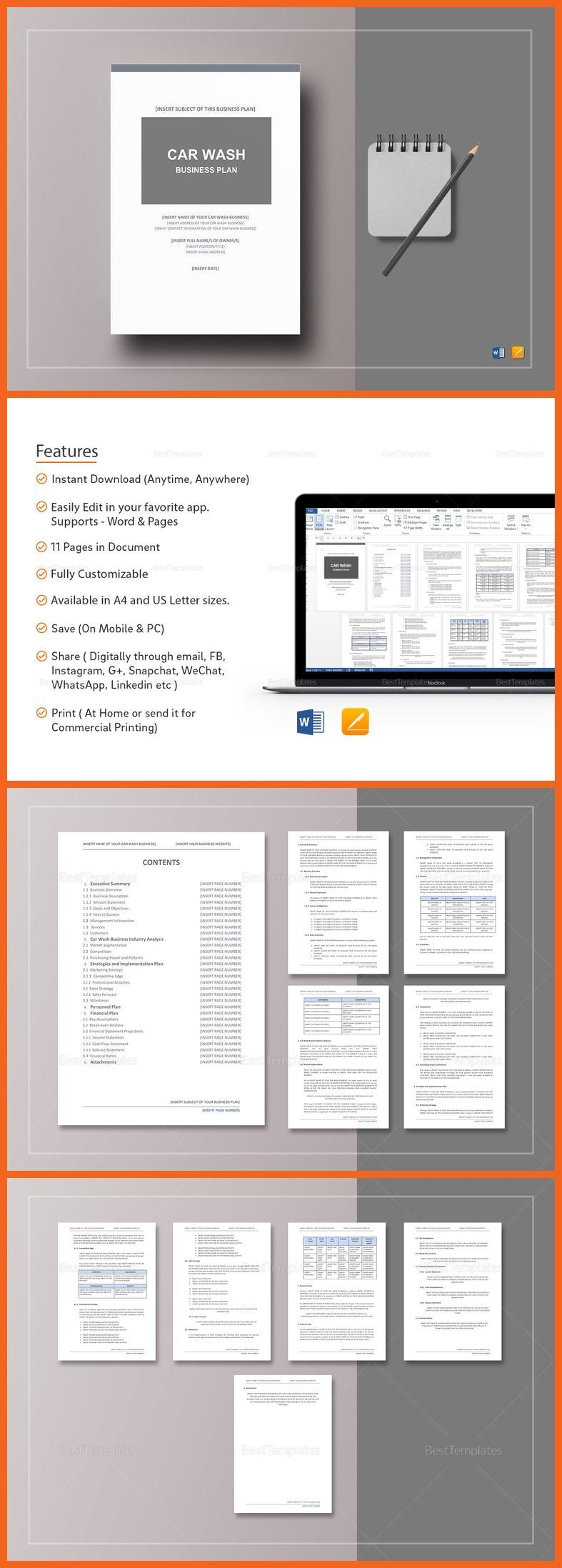 Car wash business plan template 12 formats included ms word car wash business plan template 12 formats included ms word pages file size accmission Choice Image