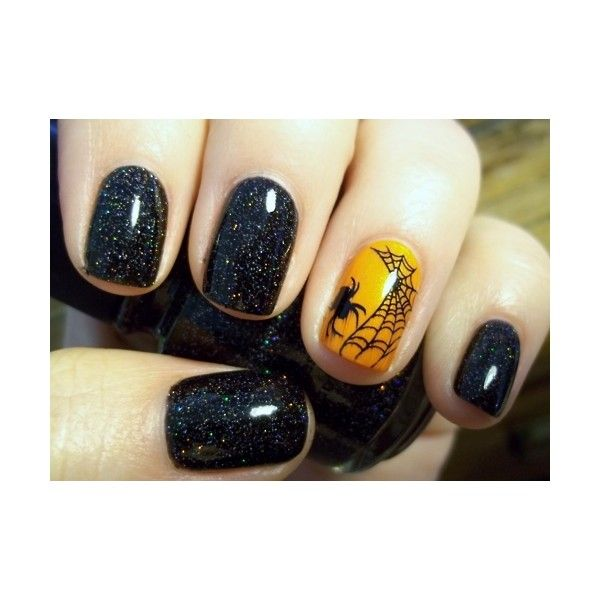 20 Spooky Halloween Nail Art Designs - Hot Beauty Health found on Polyvore