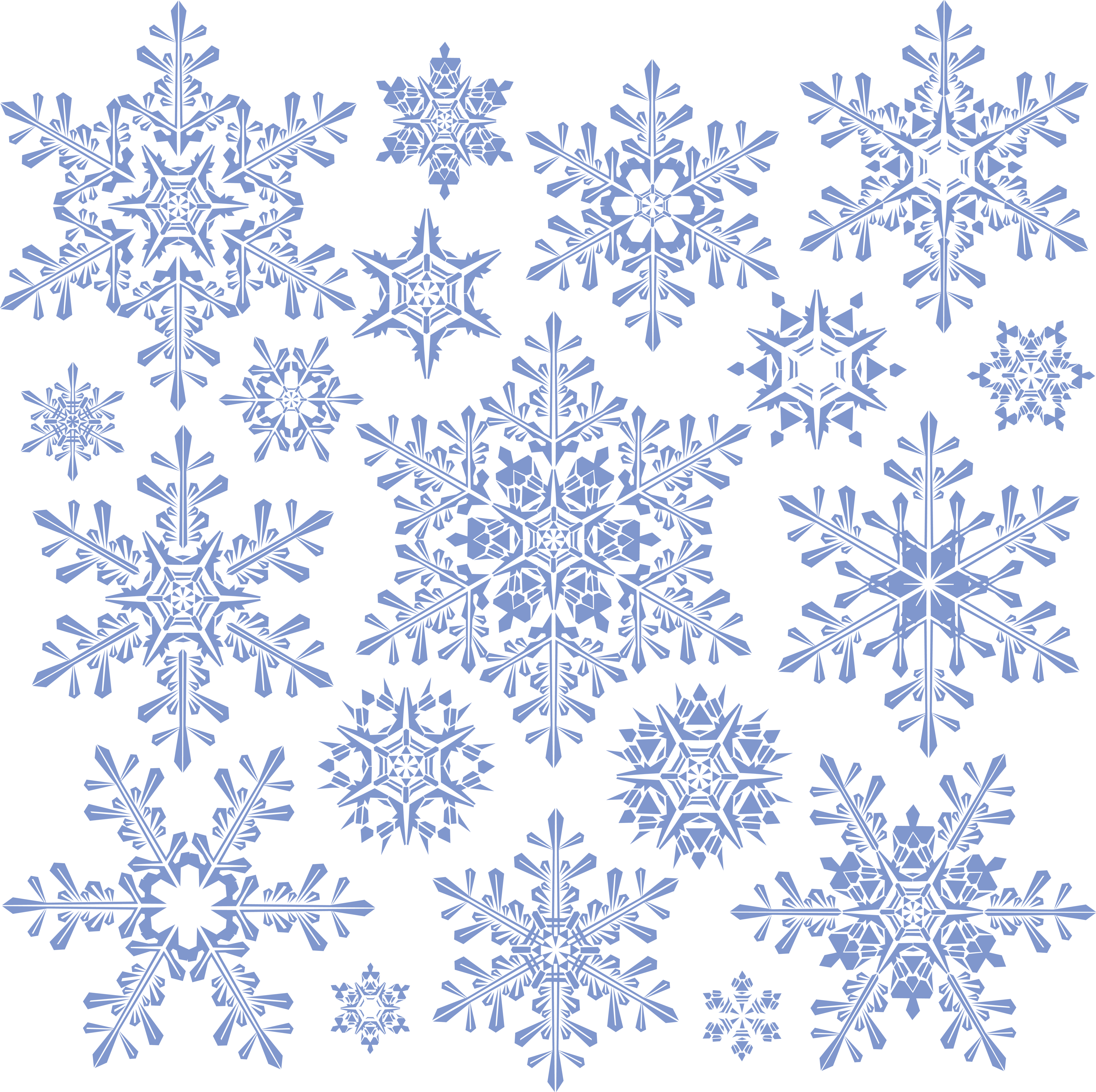 Snowflakes PNG image image with transparent background