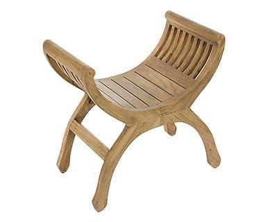 Sgabello in legno di acacia aaron naturale cm oggetti