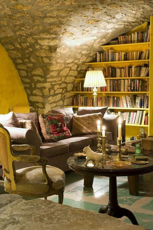 perfect place to readinside a cozy stone cottage - Stone Cottage Interiors