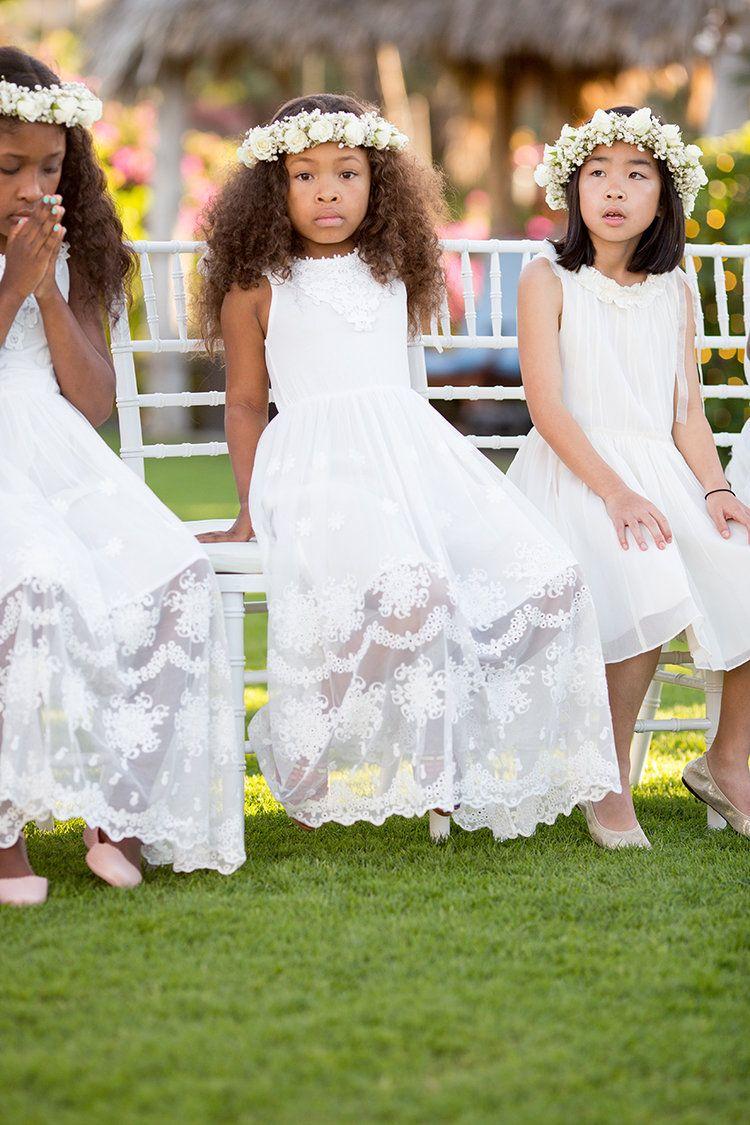 White Dresses For Flowergirls   Summer flower girl dresses, Flower ...