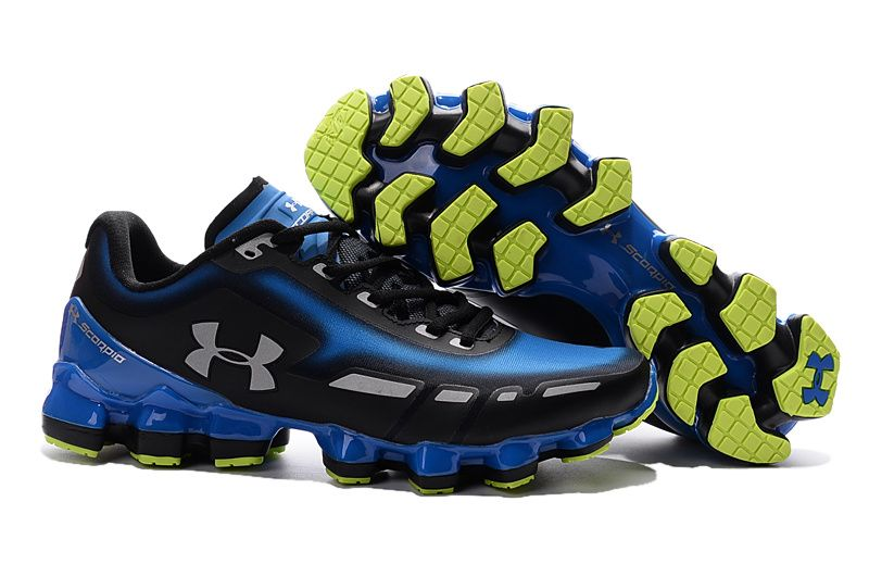 size 40 caccb 51cfc Men s Under Armour UA Scorpio Running Shoes Blue Grey Black