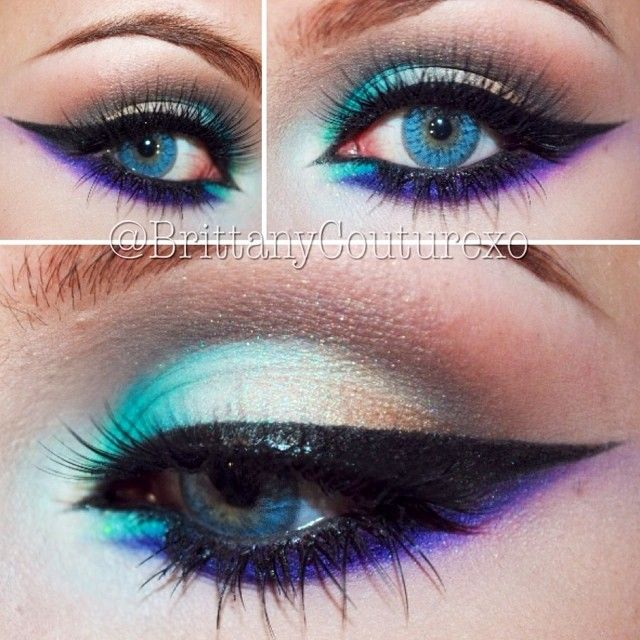 Blue and Purple Accents