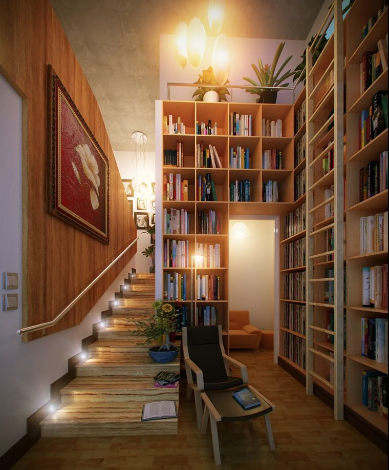 Reading Corners | Corner, Books and Wooden stairs
