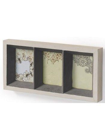 Bella, semplice ed elegante cornice da parete per 3 foto