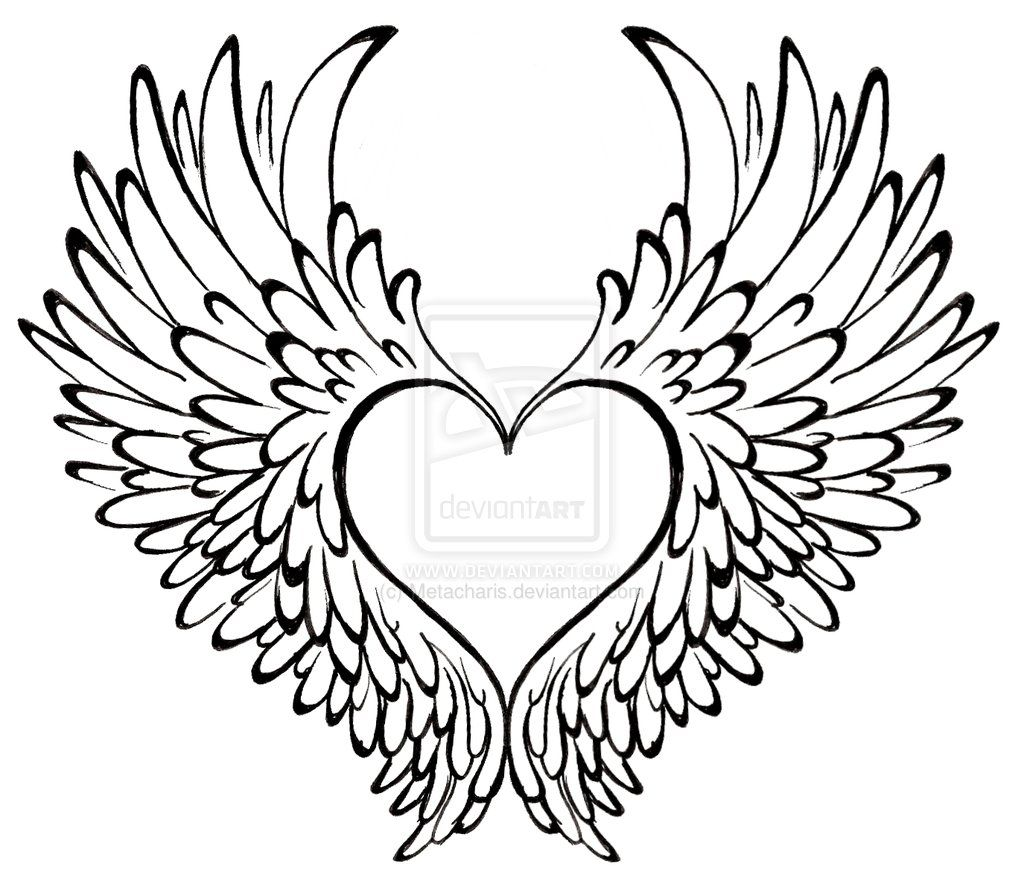 Heart With Wings Tattoo By Metacharis On Deviantart Heart With