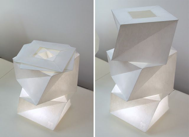 ARCFLY: A sculpture of shadow and light: IN EI Lamp by Issey
