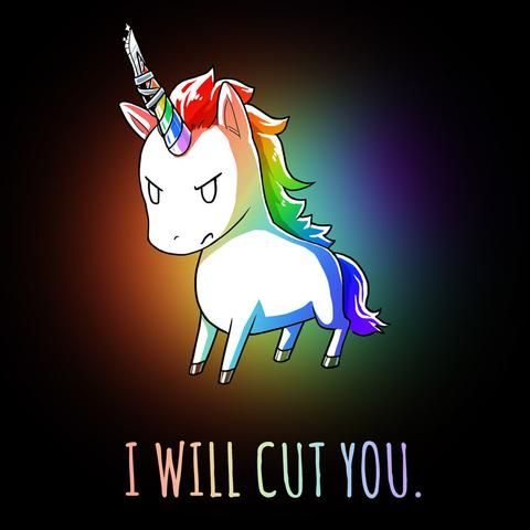 Stabby the Rainbow Unicorn t-shirt TeeTurtle | Background ...