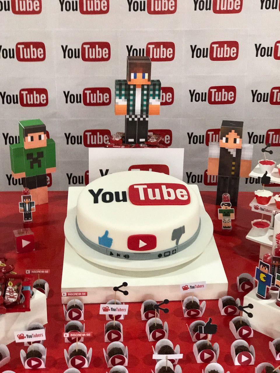 Festa Youtube Youtubers Jpg 960 1 280 Pixels Com Imagens Bolos