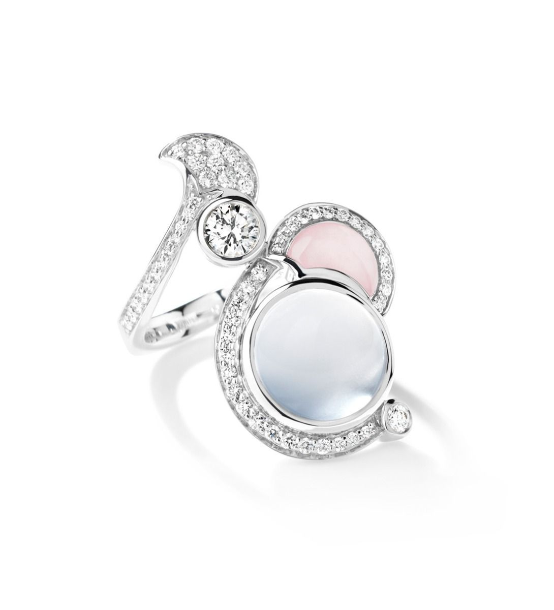 3974d092ceb0c Our Small Raindrop Moonstone & Pink Opal Ring is beautifully lovely ...