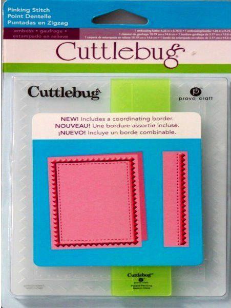 Provo Craft Cuttlebug Pinking Stitch Embossing Folders