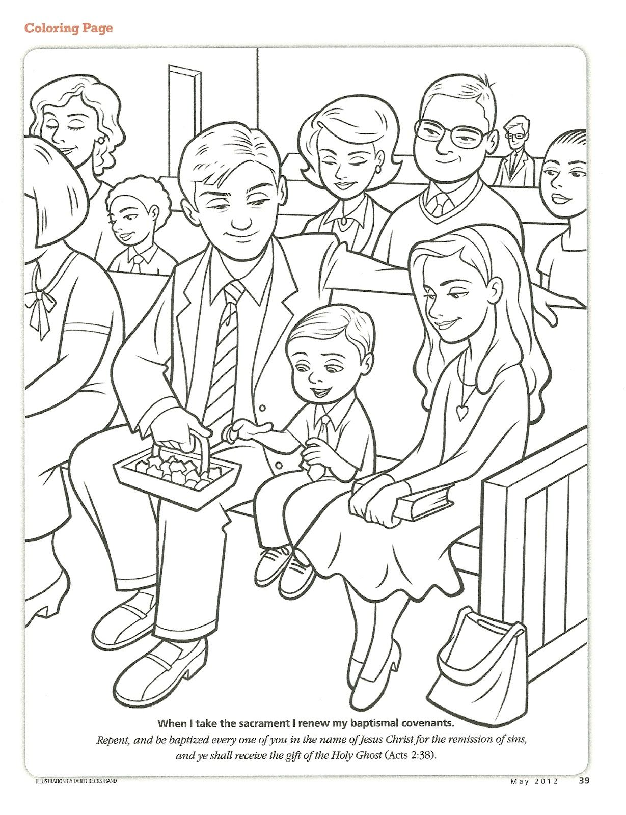 Primary 2 Lesson 38 Coloring Pages Bear Coloring Pages Lds Baptism