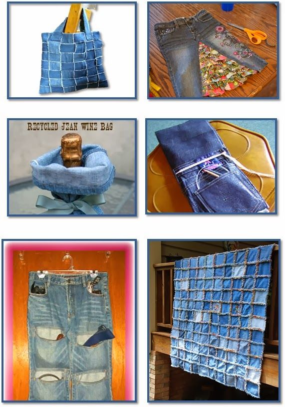 36 Fun Projects From Old Denim Jeans Things I D Love To