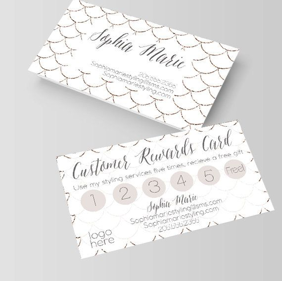 White And Gold Mermaid Scales Business Card Loyalty Card Rewards Card Stylist Hair Sty Hairstylist Business Cards Stylist Business Cards Gold Business Card