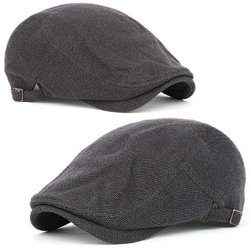 0b28e41ad70b4 Newsboy Beret WSB Charcoal Cabbie Golf Gatsby Flat Cap Fashion Hat | eBay