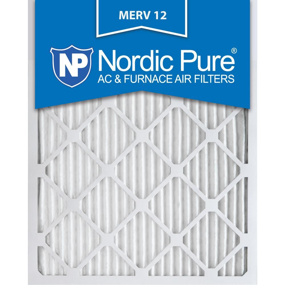 Nordic Pure 10 In X 20 In X 1 In Allergen Pleated Merv 12 Fpr 9 Air Filters 6 Pack Furnace Filters Pure Products Air Filter