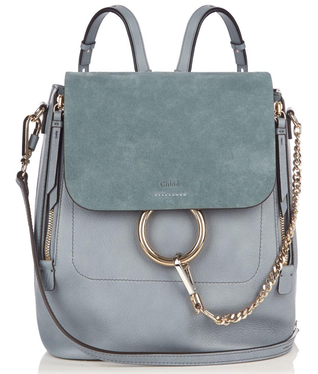 Chloe Slate Blue Medium Faye Backpack Bag. Chloe Slate Blue Medium Faye  Backpack Bag Purses And Handbags 7ef33a05c6095