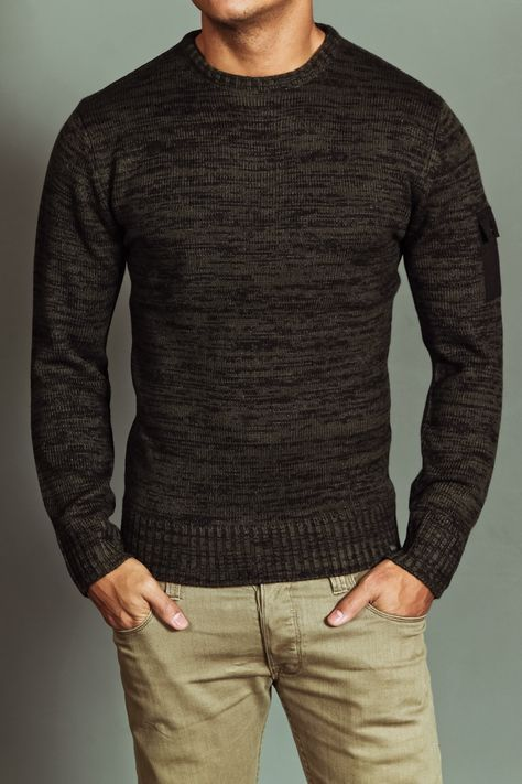 dark brown sweater. JACK THREADS. light khaki jeans. awesome ...