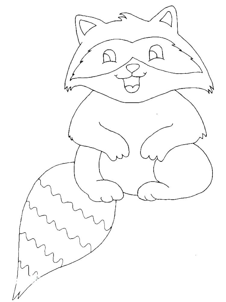 Christmas Raccoon Coloring Pages Raccoons Are Small Mammals That Live In North America Central Am Coloring Pages Animal Coloring Pages Cartoon Coloring Pages