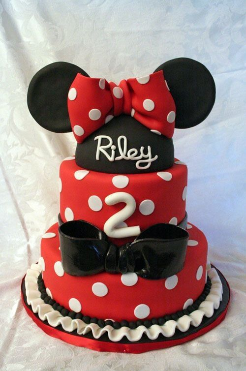 Minnie Mouse Birthday Cake My 2 Year Old Niece Would Love