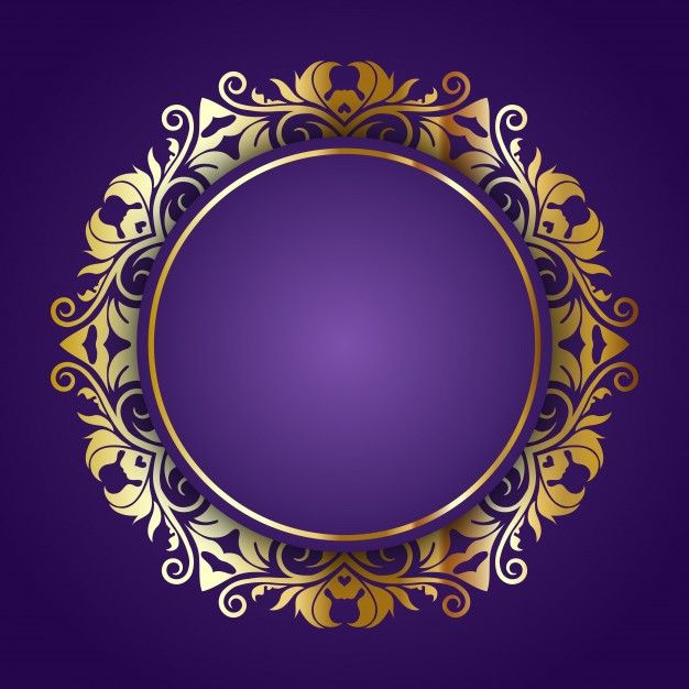 download golden ornamental frame on a purple background for free purple backgrounds invitation background wedding invitation background pinterest