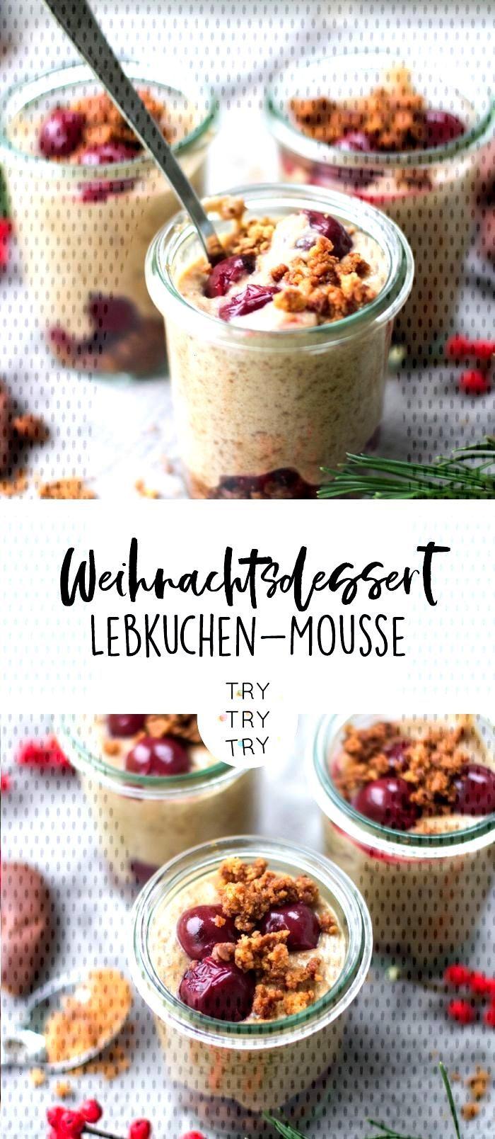 Christmas dessert: gingerbread mousse -  Christmas dessert: gingerbread mousse // dessert in a glas