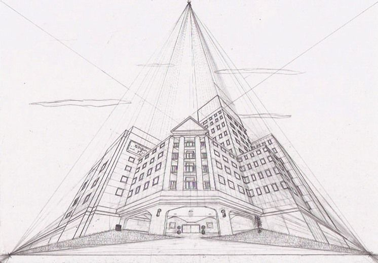 This Is A Three Point Perspective Piece In Worms Eye View