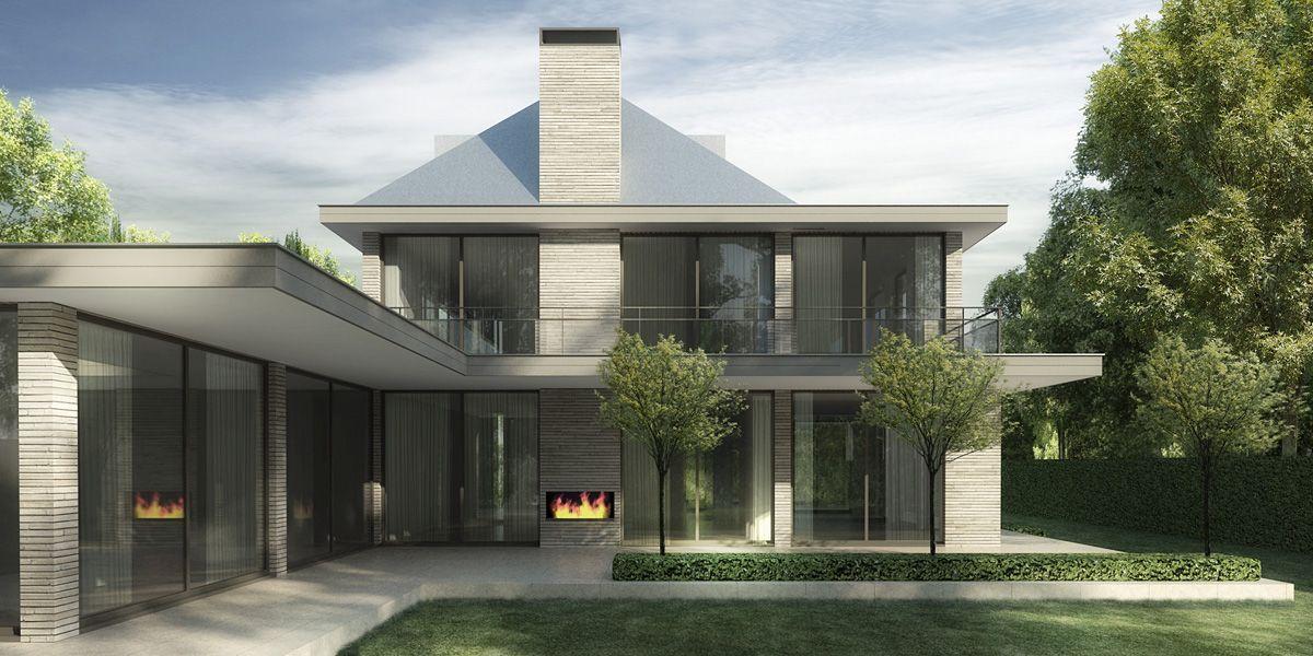 Denoldervleugels architects associates moderne for Landelijke villa bouwen