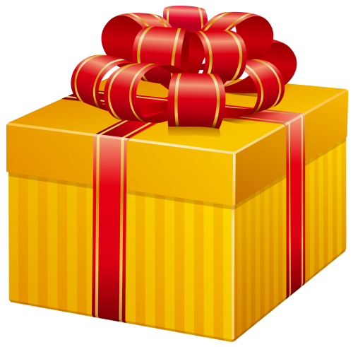 Yellow Present Box Png Clip Art The Best Png Clipart Clip Art Christmas Collage Box